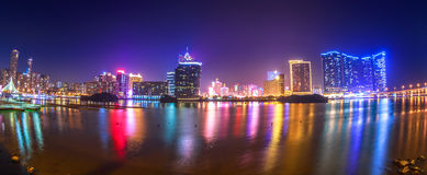 Panorama Macao cityscape Stock Photography