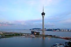 Panorama of Macau city royalty free stock photos