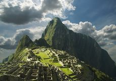 Panorama machu-Picchu Royalty-vrije Stock Afbeelding