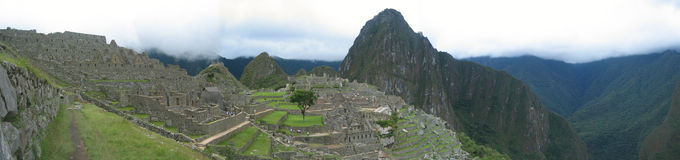 panorama machu picchu obraz royalty free