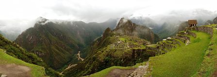 Panorama Machu Picchu. City lost from the Incas, one of wonders of the World. Cusco - Peru Stock Image