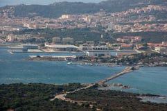 Panorama Maddalena od wyspy Caprera Zdjęcia Stock