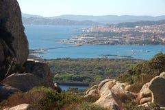 Panorama Maddalena od 'wyspy Caprera Fotografia Royalty Free