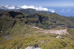 Panorama of Madeira mountains Royalty Free Stock Photos