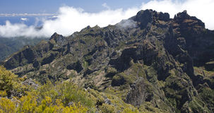 Panorama of Madeira mountains Royalty Free Stock Images