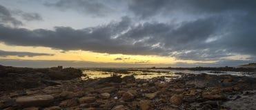 Panorama madreperlaceo della spiaggia Fotografia Stock Libera da Diritti