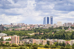 Panorama of Madrid, Capital City of Spain, Europe Stock Image