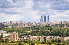 Panorama of Madrid, Capital City of Spain, Europe Stock Image