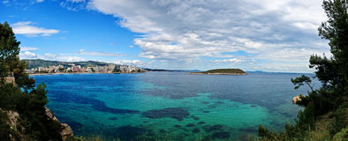 Panorama of Magaluf in spring, Spain Royalty Free Stock Photo