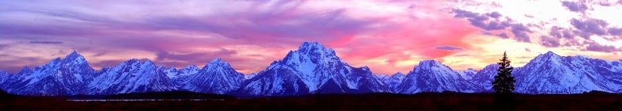 Panorama magnífico de Teton Fotos de archivo libres de regalías