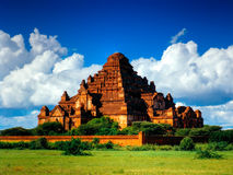 Panorama magnifique de temple de Dhammayangyi, païen, Bagan Myanmar photographie stock