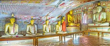 Panorama of Maharaja Lena Cave in Dambulla Stock Photos