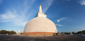 Panorama of Mahatupa or Ruwanweliseya big Dagoba in Anuradhapura Stock Photo