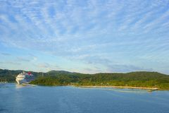 Panorama of Mahogany Bay in Roatan, Honduras Stock Images