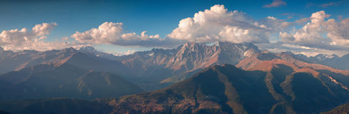 Panorama of the Main Caucasus ridge Stock Image