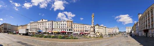 Panorama main square Linz Stock Image