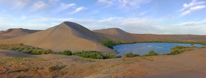 Panorama of majestic Bruneau dunes Royalty Free Stock Image