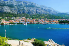 Panorama of Makarska Stock Image