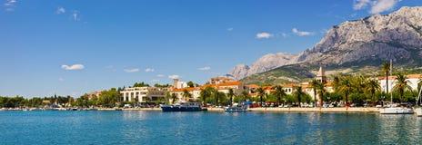 Panorama of Makarska city, Croatia Royalty Free Stock Photo