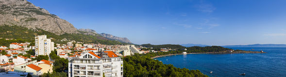 Panorama of Makarska at Croatia Royalty Free Stock Photo