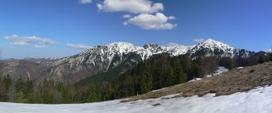 Panorama of Mala Fatra. Mountains panorama from the Mala Fatra in Slovakia Stock Image