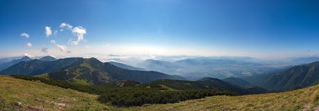 Panorama of Mala Fatra mountains at Slovakia. Mala Fatra is a mountain range in northern Slovakia in the Zilina Region. After High Tatras, Low Tatras and Orava royalty free stock images