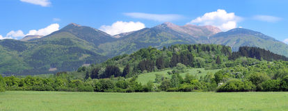 Panorama of Mala Fatra, National Nature Reserve Stock Image