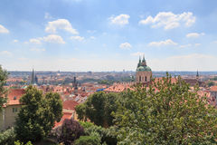 Panorama of Mala Strana (Lesser Town) and St. Nicholas Church, Prague Stock Photography