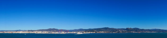 Panorama of Malaga city, Spain Royalty Free Stock Photography