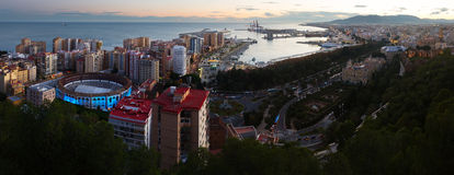 Panorama of Malaga Royalty Free Stock Photo