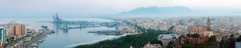 Panorama of Malaga, Spain Royalty Free Stock Image