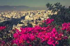 Panorama of Malaga, Spain Royalty Free Stock Images