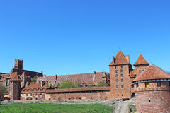 Panorama Malbork castle. Poland Royalty Free Stock Image