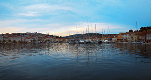 Panorama of Mali Losinj. Panoramic view of island Losinj, Croatia, Europe Royalty Free Stock Image