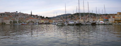 Panorama of Mali Losinj Stock Image