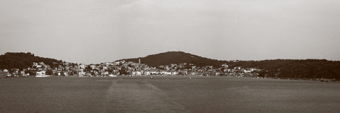 Panorama of Mali Losinj. Panoramic view of island town, Mali Losinj, Croatia, Europe Stock Photography