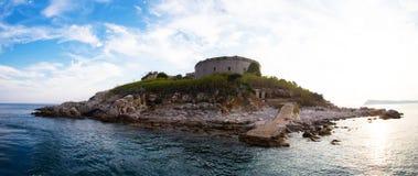 Panorama Mamula island Royalty Free Stock Photos