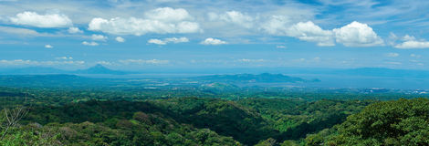 Panorama of managua city. In Nicaragua with mountains and lake Royalty Free Stock Images