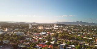 Panorama Managua cityscape royalty free stock images