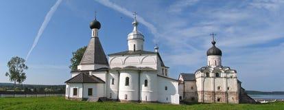 Panorama manastery. Ferapontovo monastery Stock Images