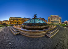 Panorama of Manege Square in the Evening, Moscow Stock Photos
