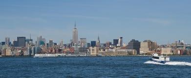 panorama- manhattan Arkivbild