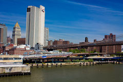 Panorama of Manhattan , New York Royalty Free Stock Photography