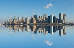 Panorama of manhattan, new york royalty free stock photo