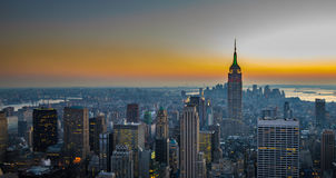 Panorama of manhattan, new york. City Royalty Free Stock Images