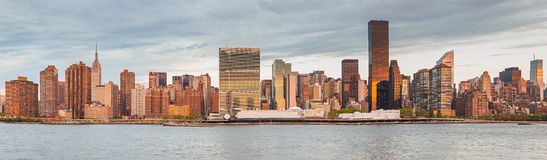 Panorama of Manhattan, New York City Royalty Free Stock Photos