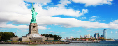 Panorama on Manhattan, New York City royalty free stock photography