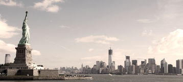 Panorama on Manhattan Stock Image