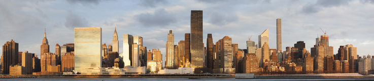 Panorama of Manhattan Skyline from Long Island City Royalty Free Stock Photo