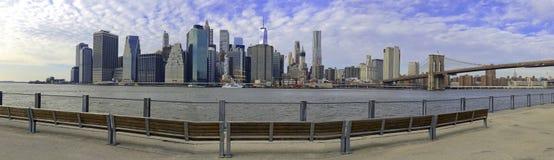 Panorama of Manhattan skyline, New York City Royalty Free Stock Image